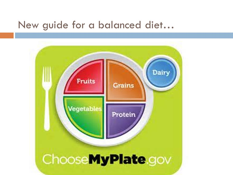 New guide for a balanced diet…