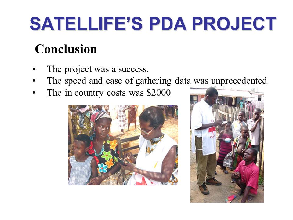 SATELLIFE'S PDA PROJECT