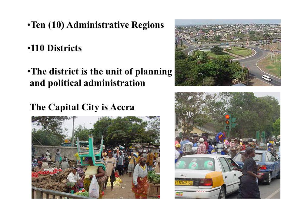 Ten (10) Administrative Regions