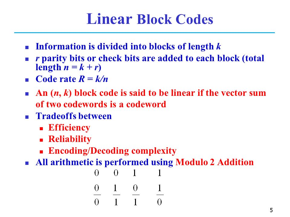 linear block codes 3 learn more about 32: matrix description of linear block codes on globalspec.