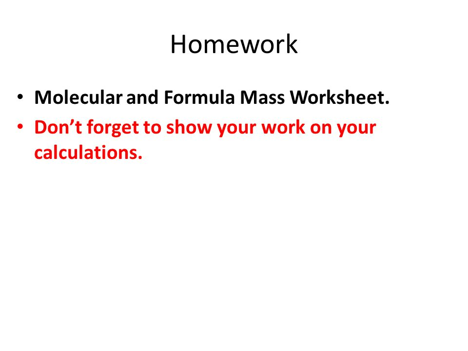 How Big is a Mole Worksheet ppt video online download – Calculating Atomic Mass Worksheet