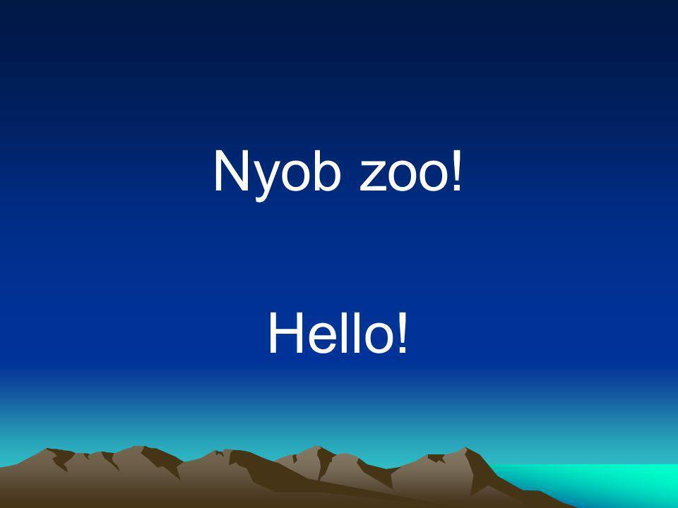 Nyob zoo! Hello!