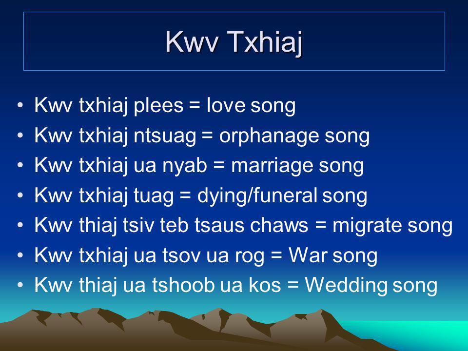 Kwv Txhiaj Kwv txhiaj plees = love song