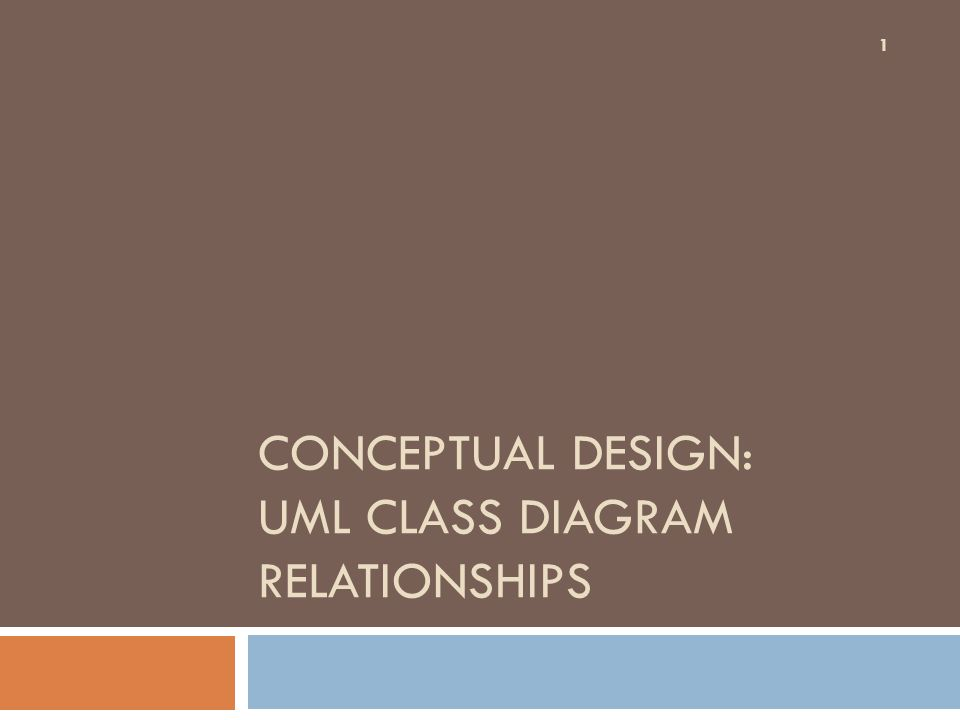 Conceptual design uml class diagram relationships ppt download 1 conceptual design uml class diagram relationships ccuart Gallery