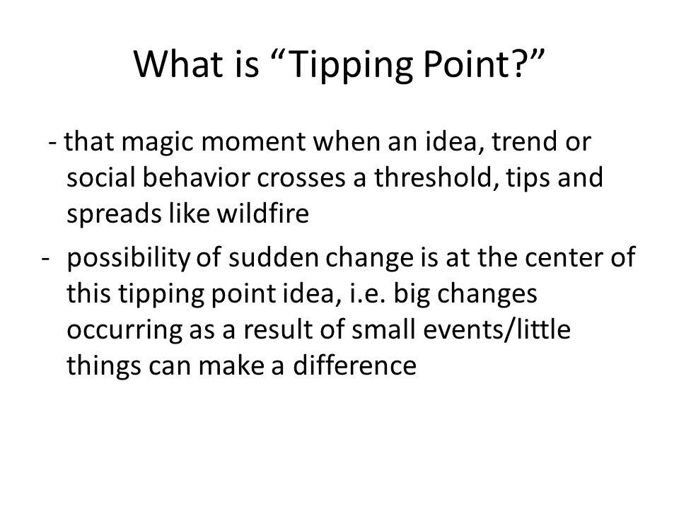 What is Tipping Point