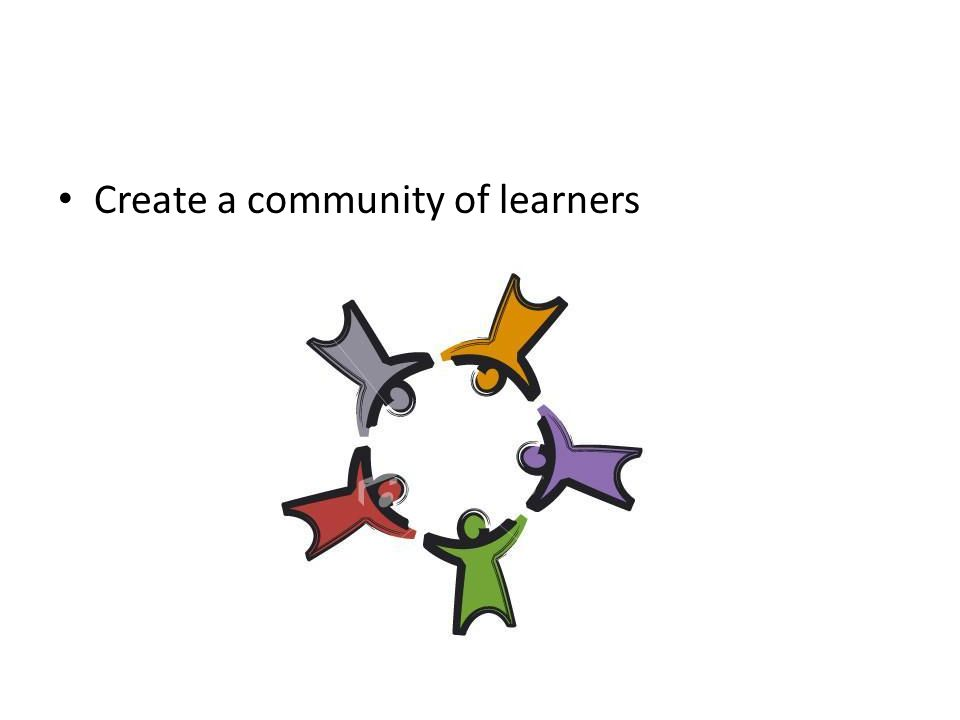 how to create a community of learners in the classroom