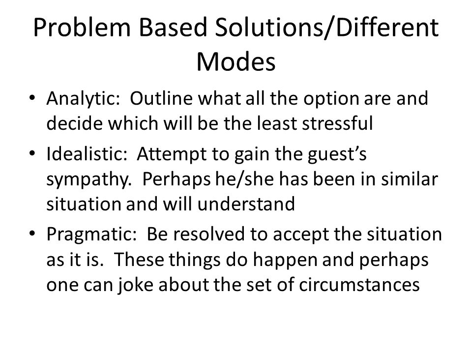 Problem Based Solutions/Different Modes