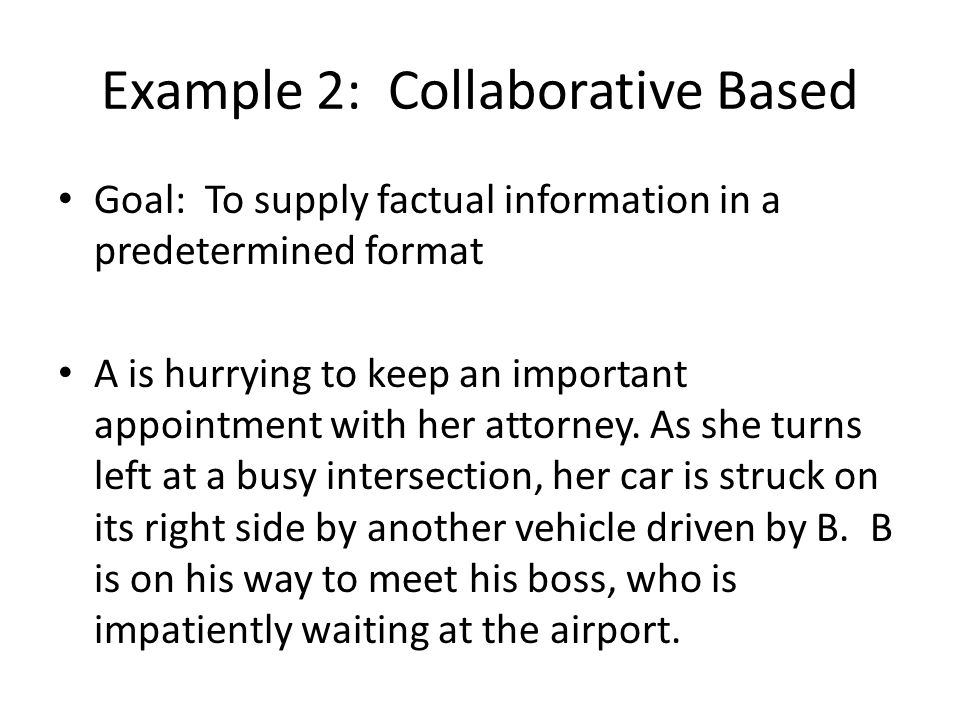 Example 2: Collaborative Based