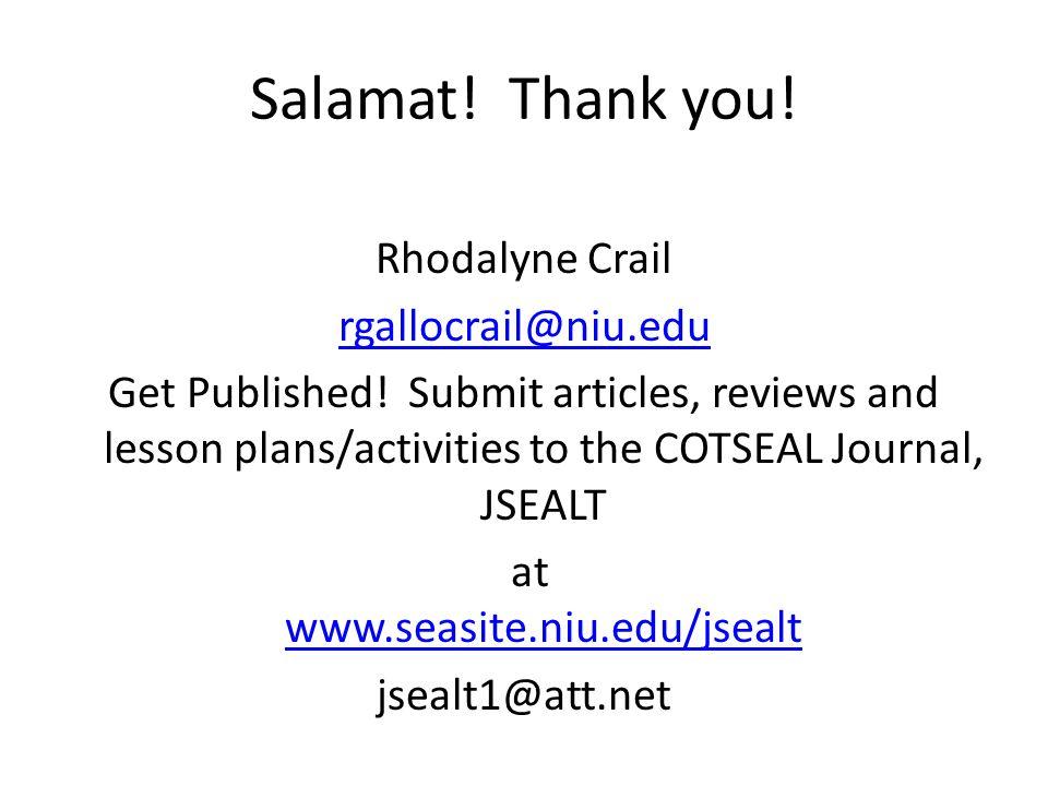 Salamat! Thank you!