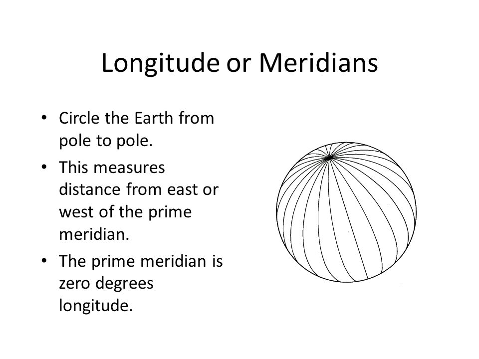 Longitude or Meridians