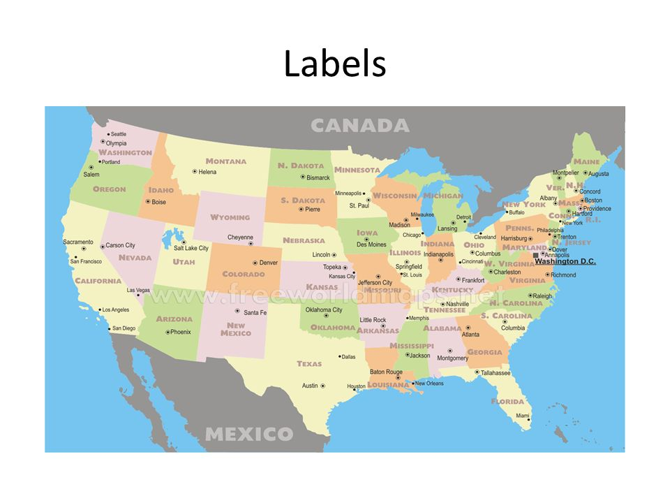 Using Maps And Globes Ppt Video Online Download - The world map with labels