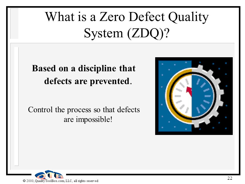 What is a Zero Defect Quality System (ZDQ)