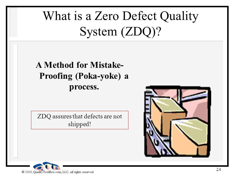 A Method for Mistake-Proofing (Poka-yoke) a process.