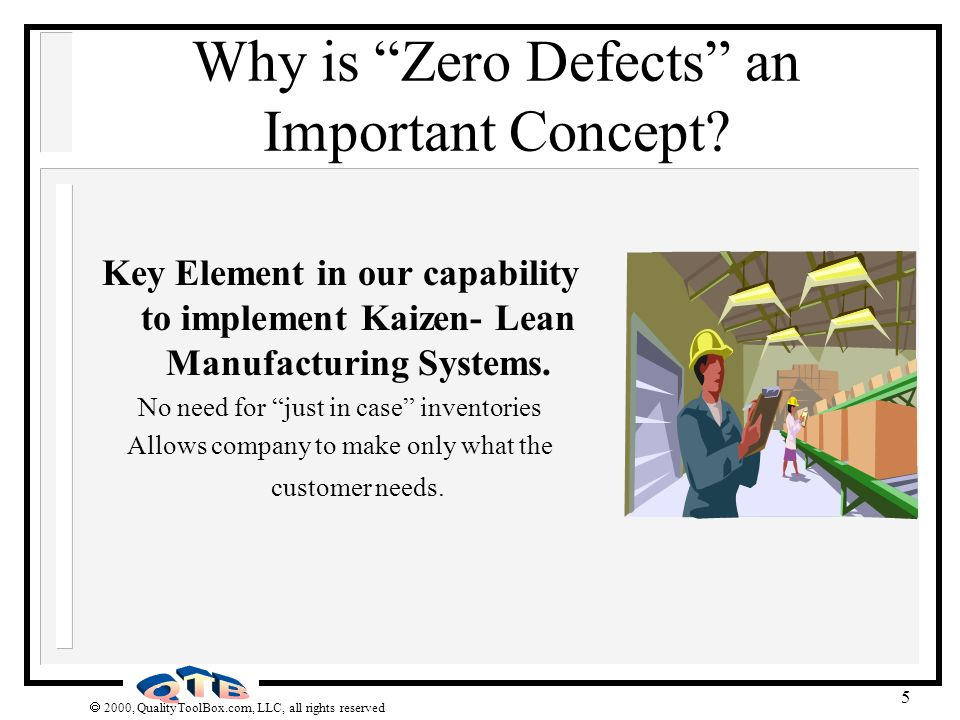 Why is Zero Defects an Important Concept