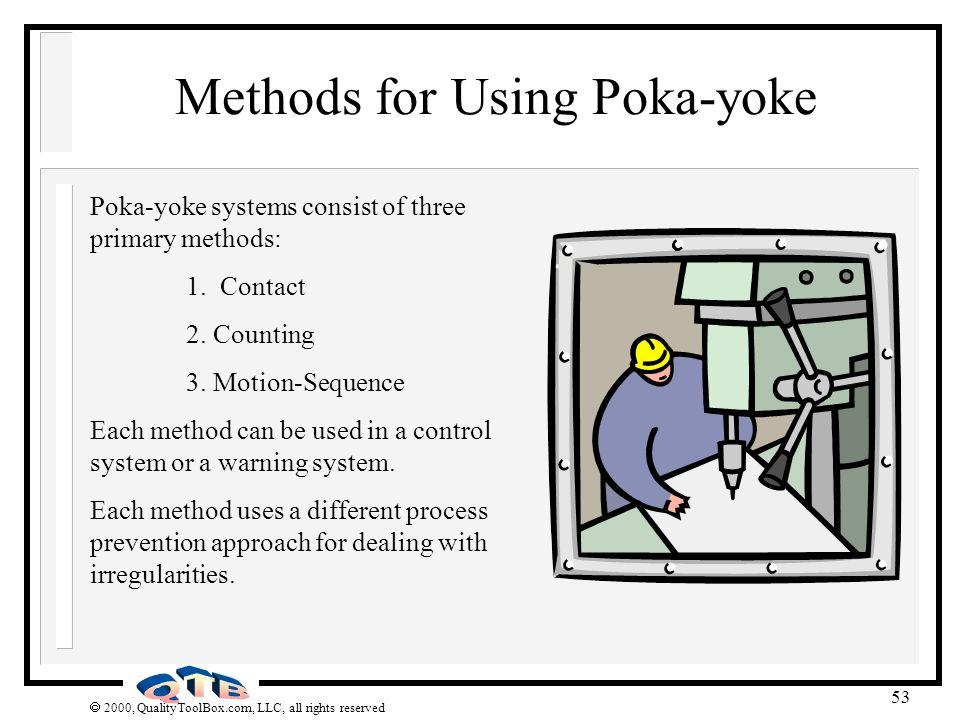 Methods for Using Poka-yoke