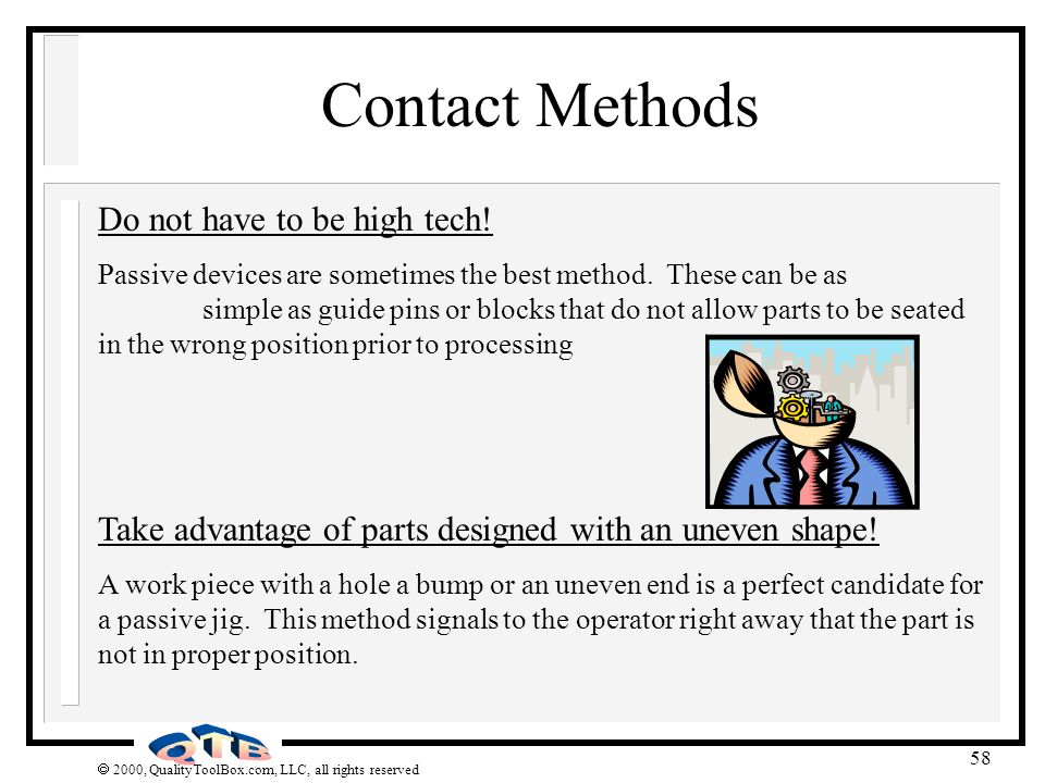 Contact Methods Do not have to be high tech!