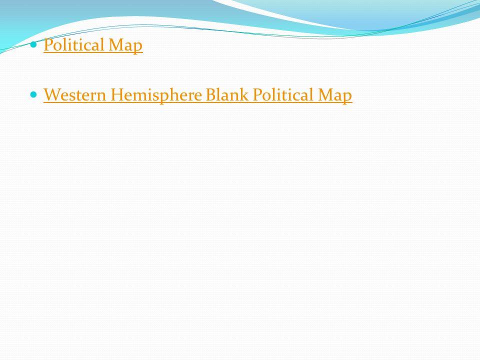 Blank Western Hemisphere Map