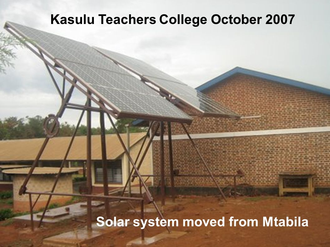 Kasulu Teachers College October 2007
