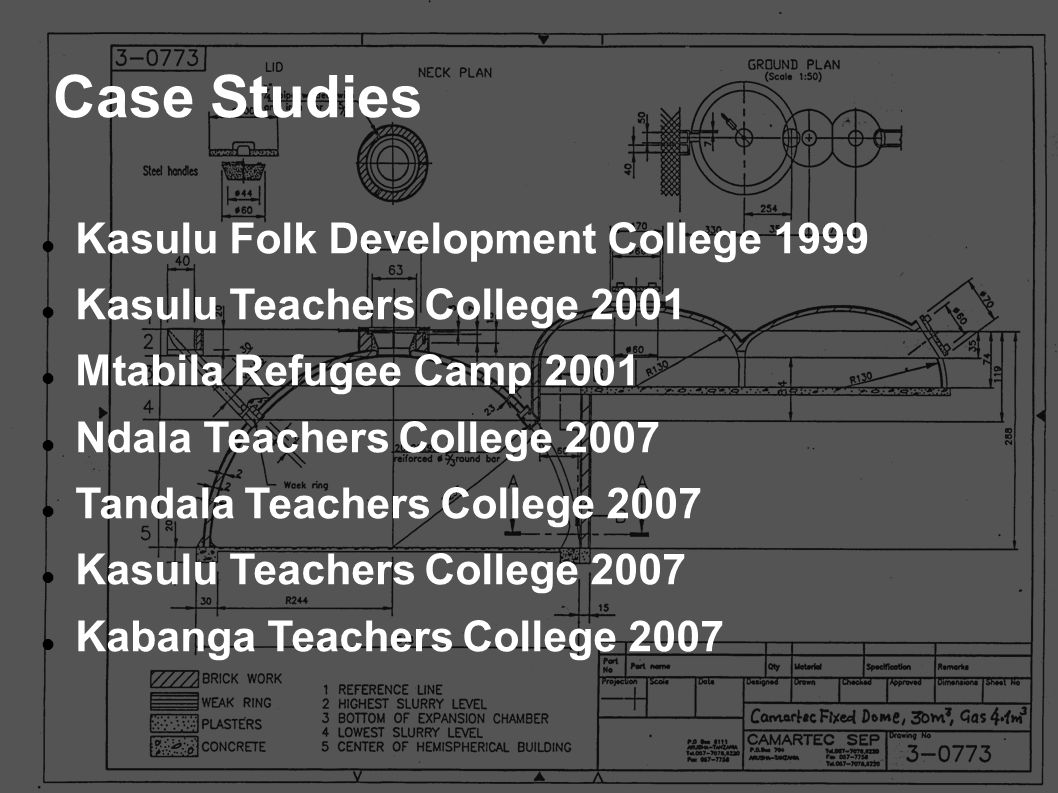 Case Studies Kasulu Folk Development College 1999