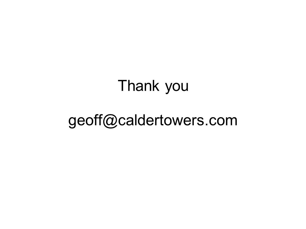 Thank you geoff@caldertowers.com