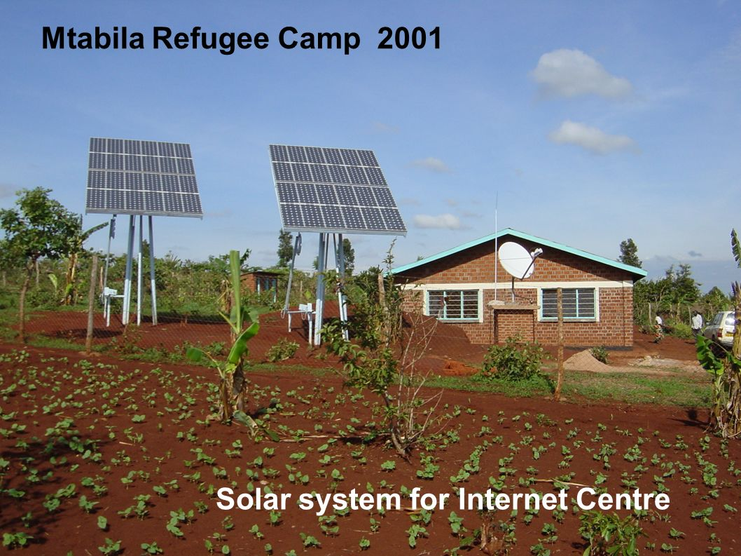 Mtabila Refugee Camp 2001 Solar system for Internet Centre