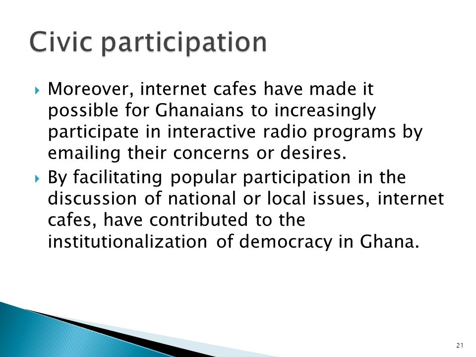 Civic participation