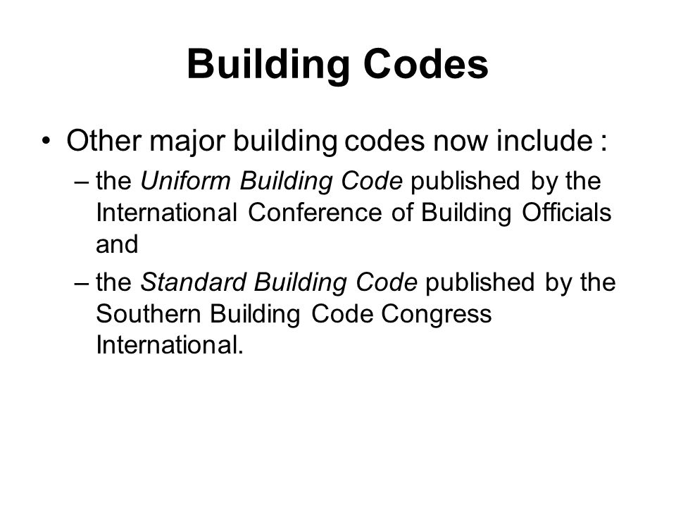 National Conference Of States On Building Codes And Standards