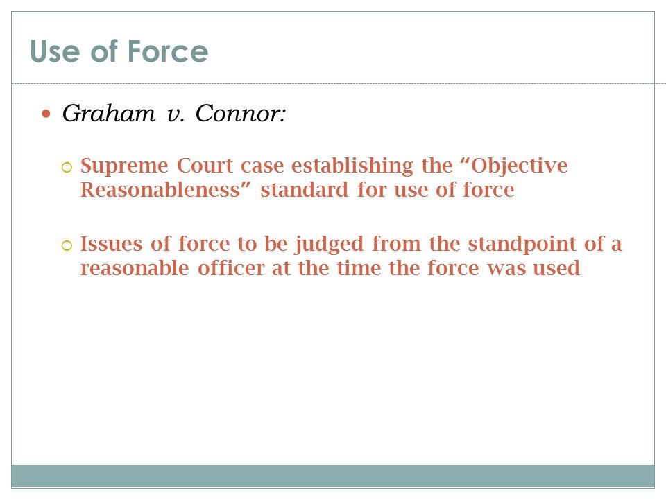 graham v connor Title us reports: graham v connor et al, 490 us 386 (1989) contributor names rehnquist, william h (judge.