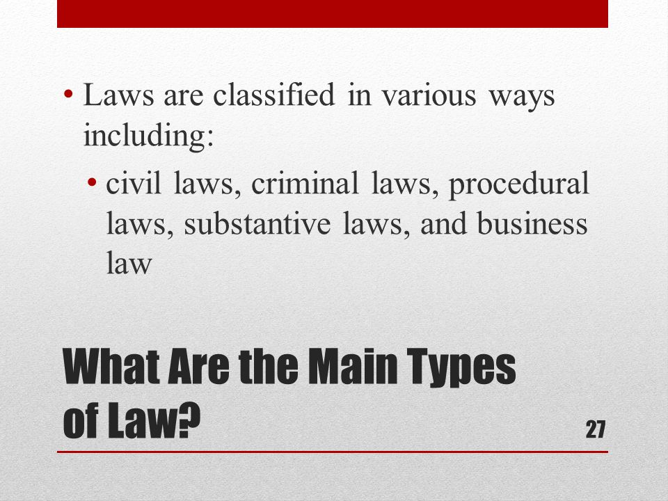 What Are the Main Types of Law