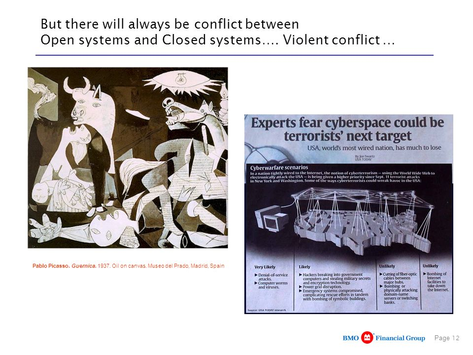 But there will always be conflict between Open systems and Closed systems…. Violent conflict …