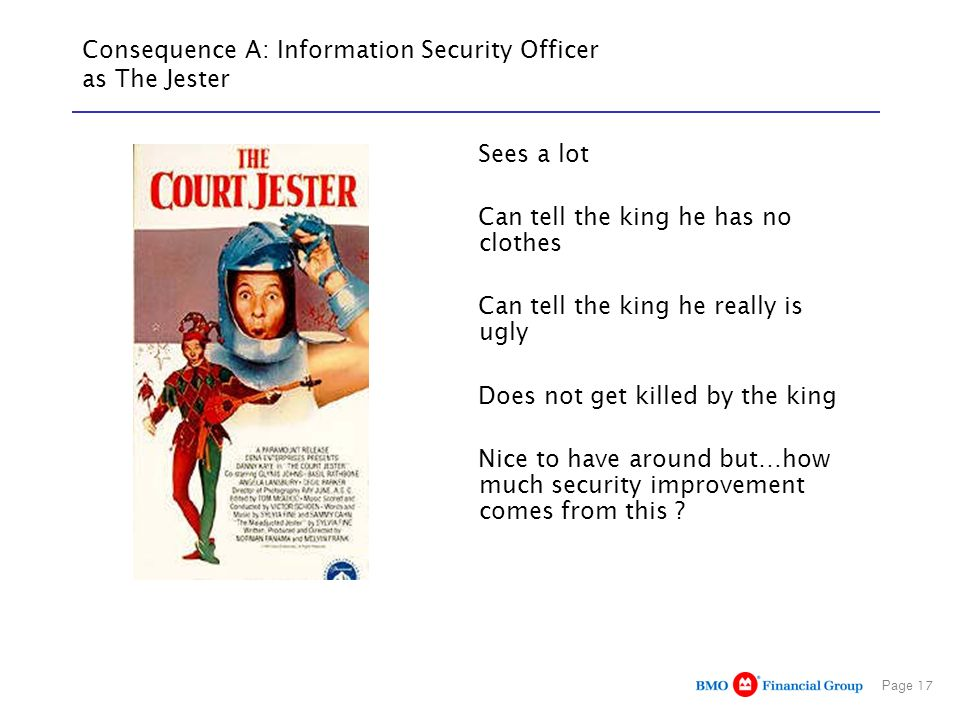Consequence A: Information Security Officer as The Jester