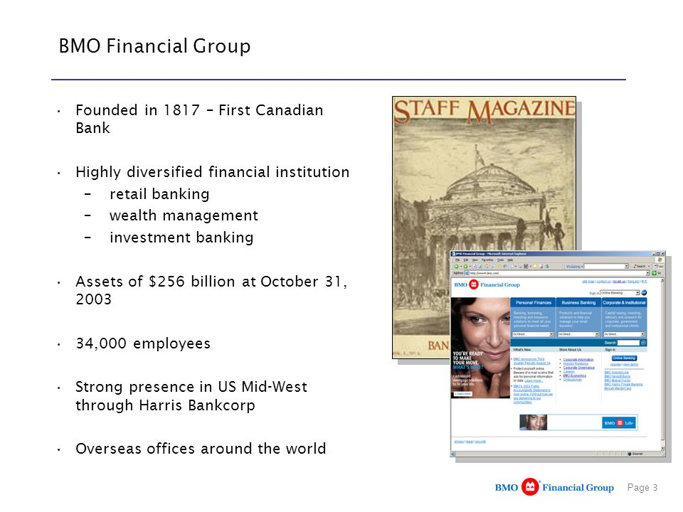 BMO Financial Group Founded in 1817 – First Canadian Bank