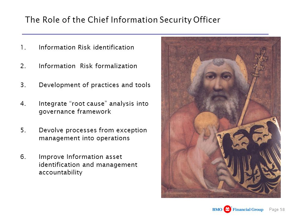 The Role of the Chief Information Security Officer