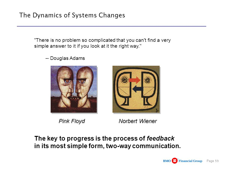 The Dynamics of Systems Changes