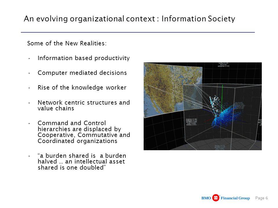 An evolving organizational context : Information Society