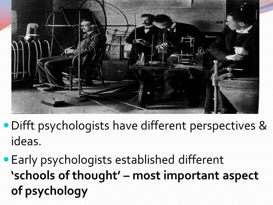 an analysis of difference perspectives of early psychology Theoretical perspective refers to a set of assumptions about certain realities and informs questions that people ask and the kind of answers they arrive at as a result in essence, theoretical perspectives can be described as lenses through which people look to focus or distort what they see .