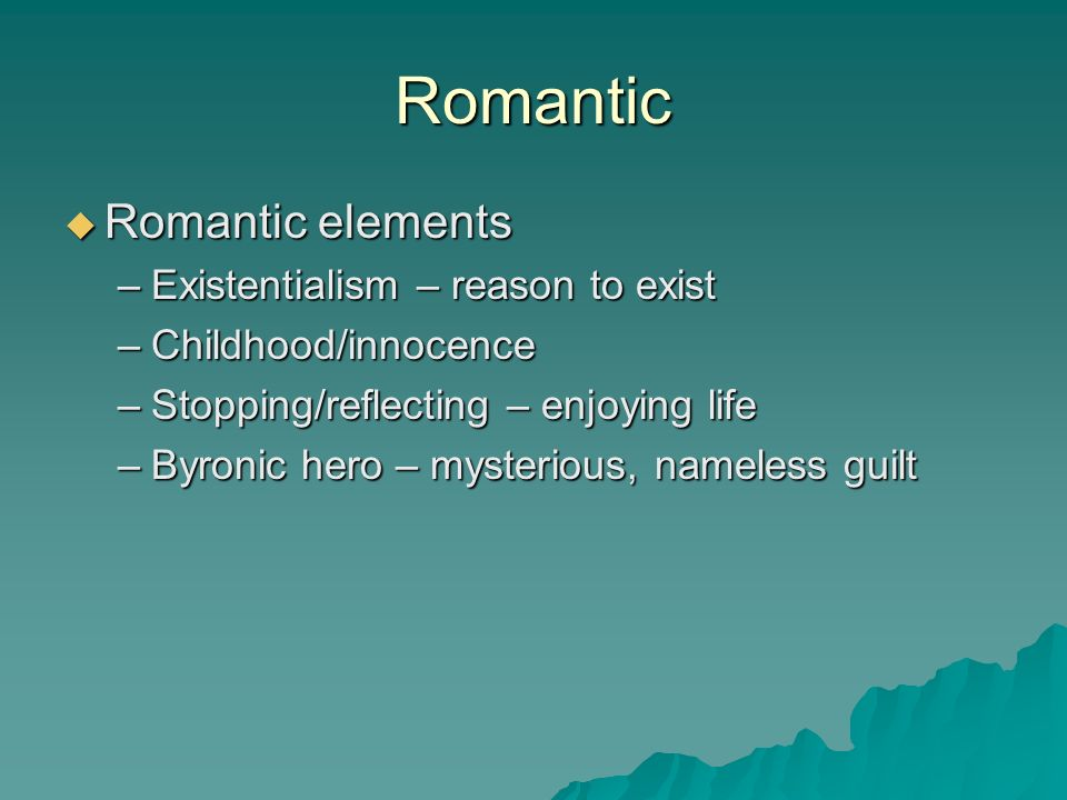 romantic elements in frankenstein and the Romanticism & frankenstein 1 frankenstein and romanticismby mary shelly 2 what is romanticism romanticism has very little t.