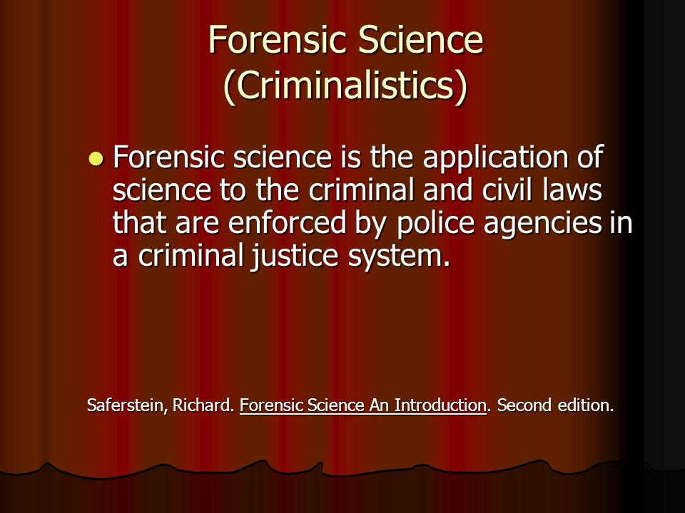 an introduction to the history of forensic science An introduction to forensic science we then move on to discuss the history of forensic science dating back to the oxford royale academy is a part of.