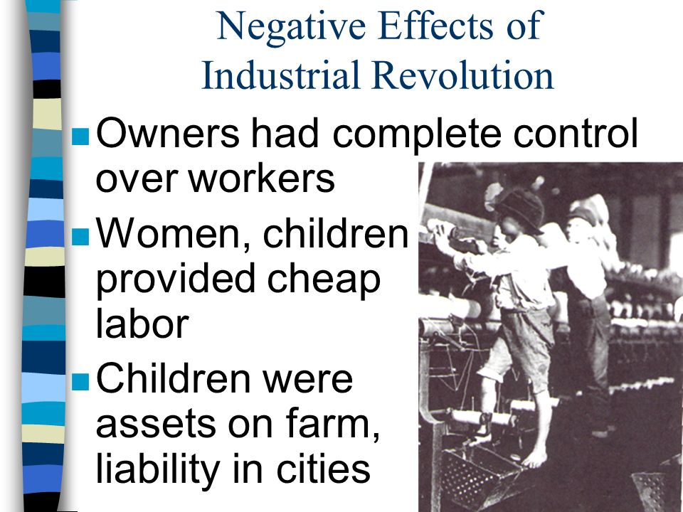 effects of the industrial revolution