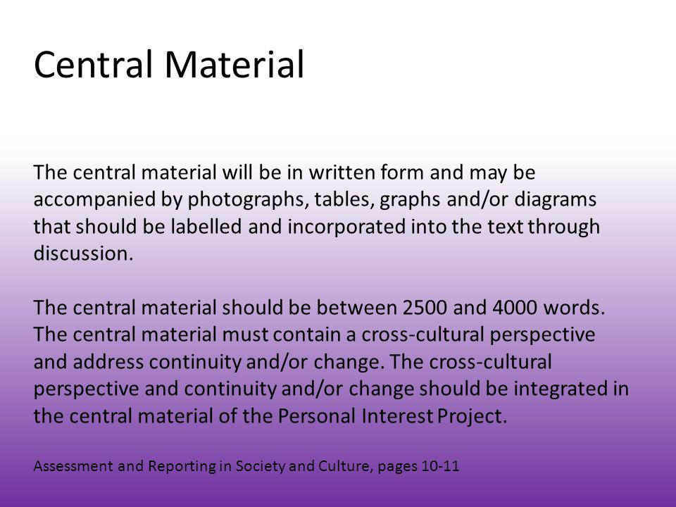Central Material
