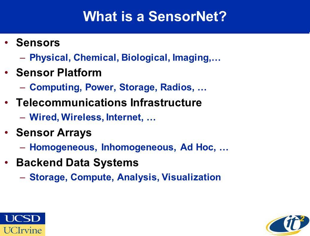 What is a SensorNet Sensors Sensor Platform