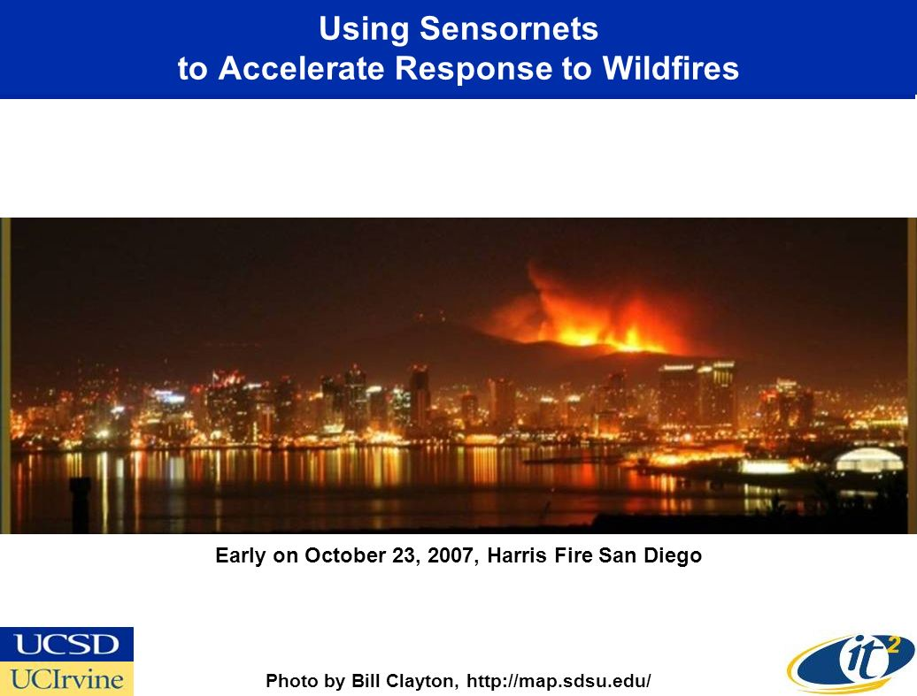 Using Sensornets to Accelerate Response to Wildfires