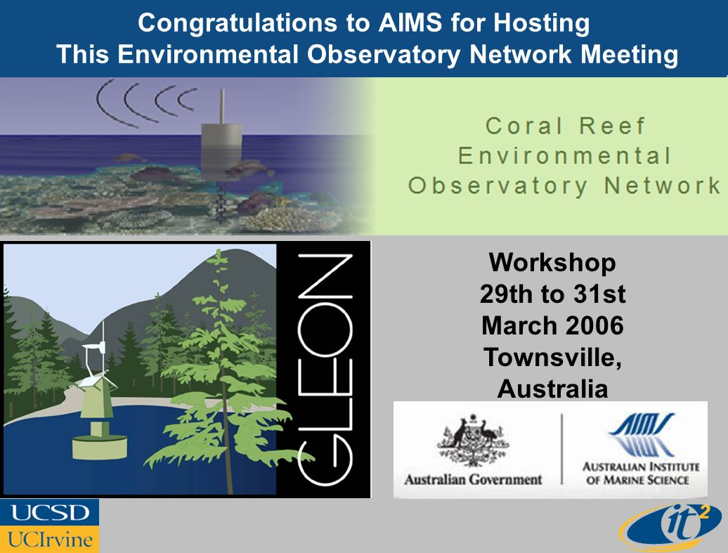 Congratulations to AIMS for Hosting This Environmental Observatory Network Meeting