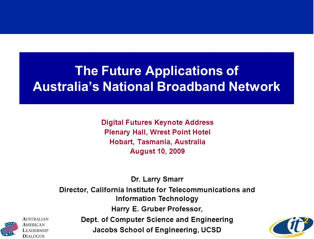 The Future Applications of Australia's National Broadband Network
