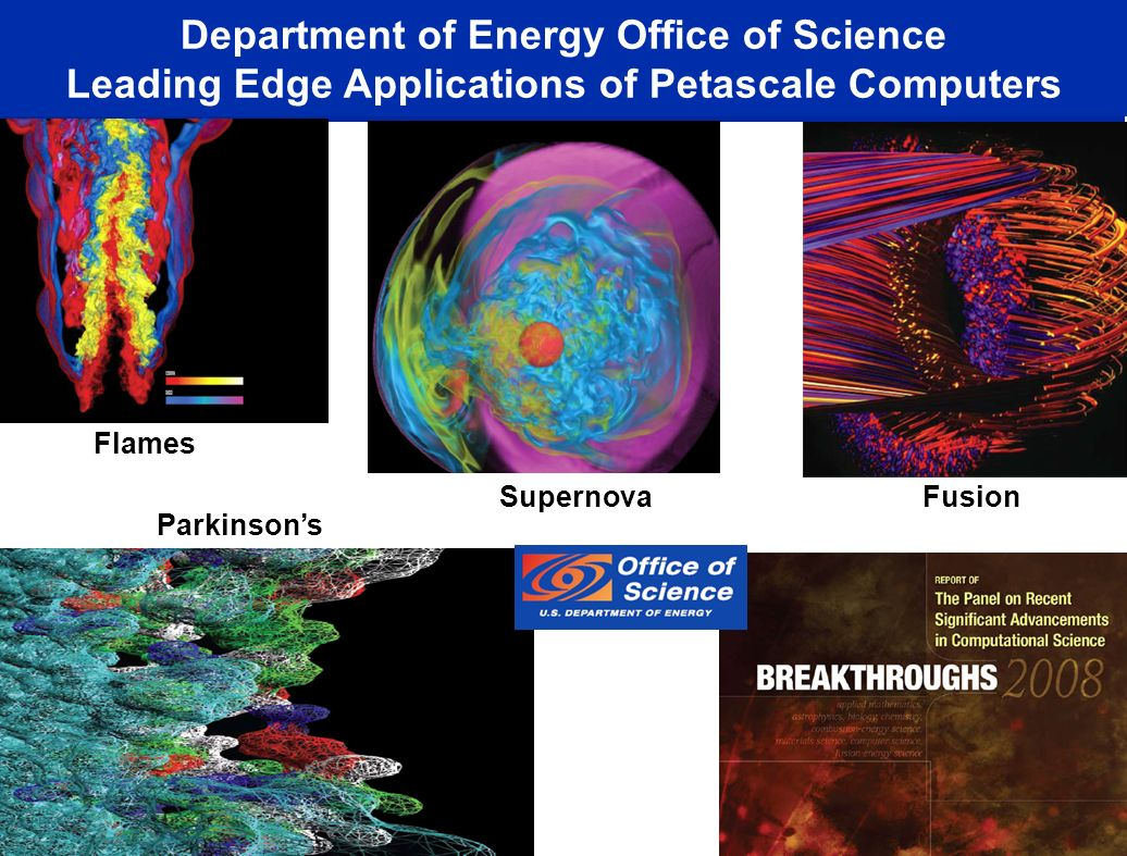 Department of Energy Office of Science Leading Edge Applications of Petascale Computers