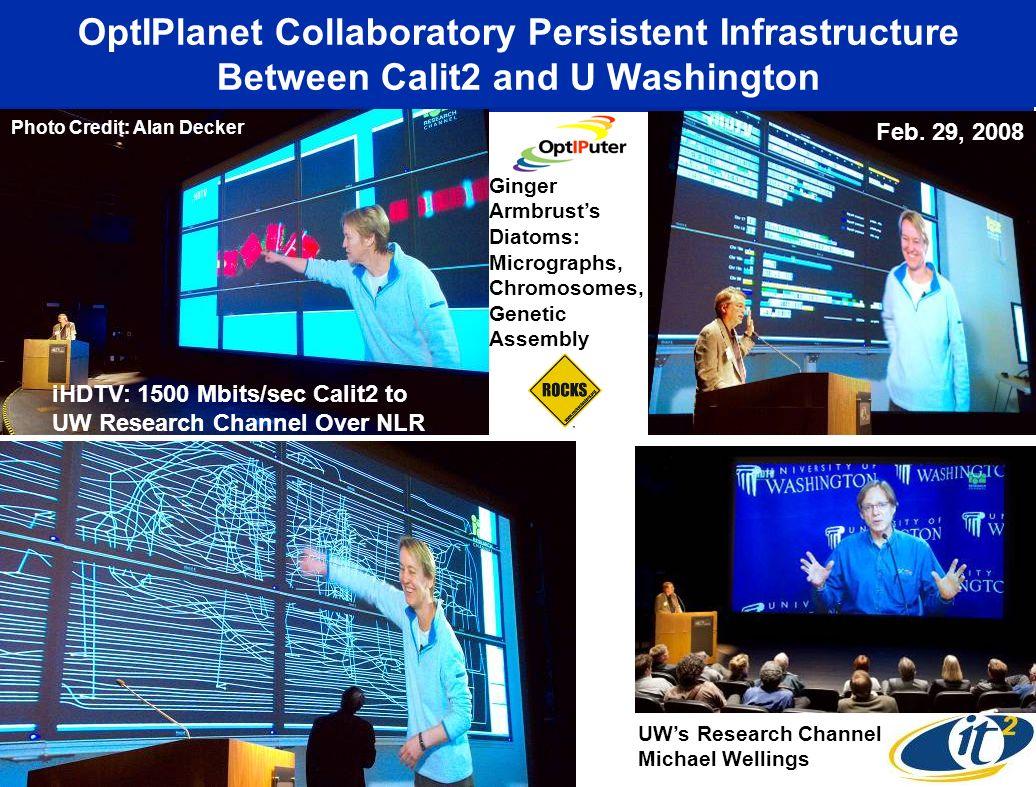 OptIPlanet Collaboratory Persistent Infrastructure Between Calit2 and U Washington