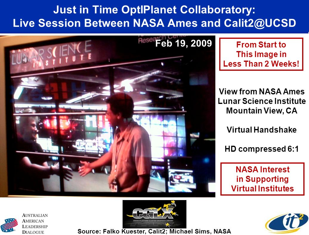 Just in Time OptIPlanet Collaboratory: Live Session Between NASA Ames and