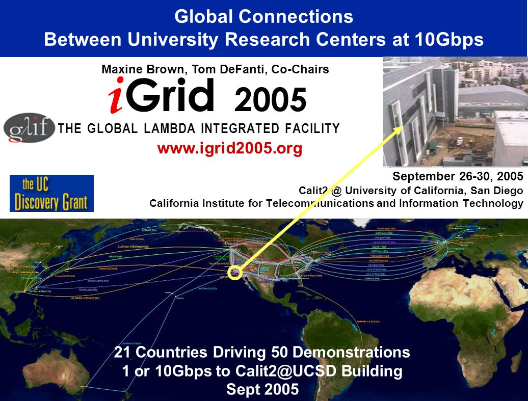 Global Connections Between University Research Centers at 10Gbps
