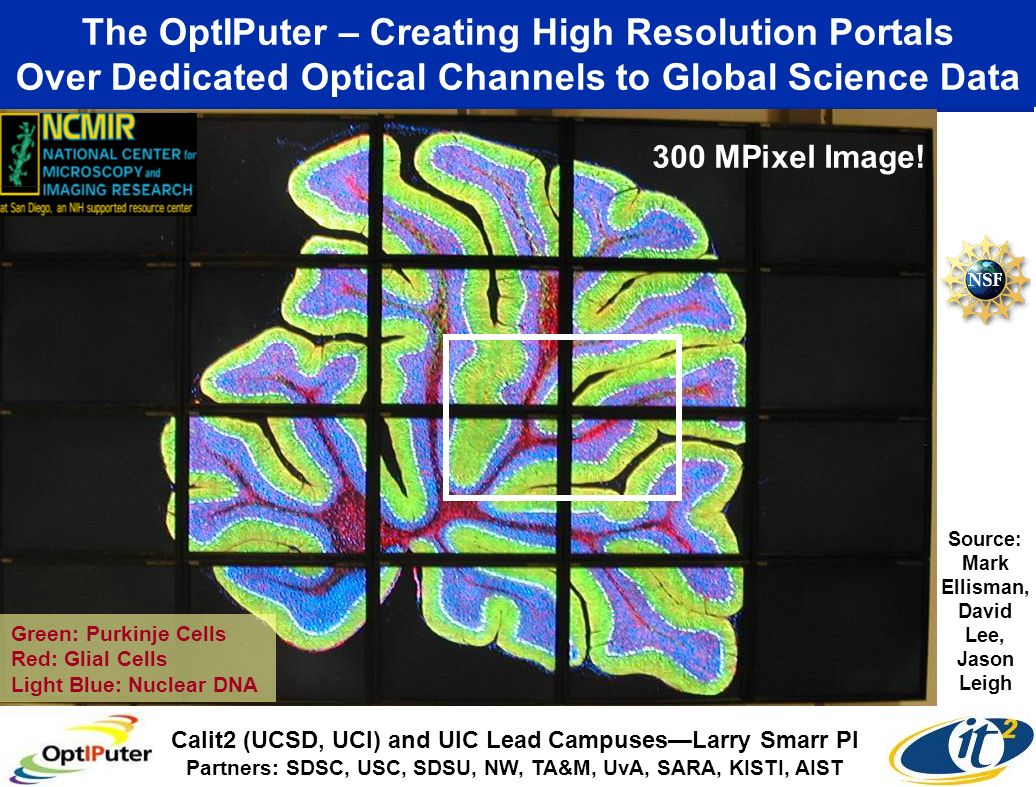 The OptIPuter – Creating High Resolution Portals Over Dedicated Optical Channels to Global Science Data