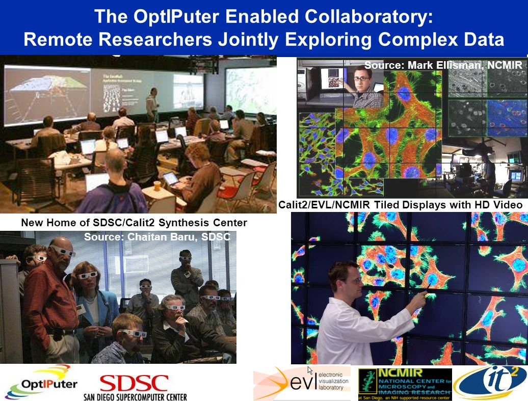 The OptIPuter Enabled Collaboratory: Remote Researchers Jointly Exploring Complex Data